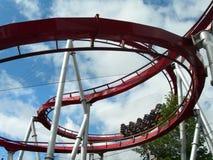 Roller coaster. Roller coaster i Tivoli gardens in Copenhagen stock images