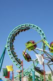 Roller Coaster 15. Large roller coaster on bright clear day Royalty Free Stock Image