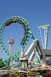 Roller Coaster 17. Large roller coaster on bright clear day Stock Image
