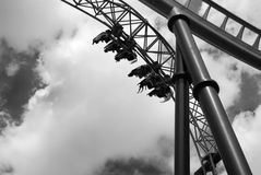 Roller coaster. Royalty Free Stock Photo