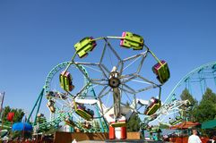 Roller Coaster 19. Large roller coaster on bright clear day Royalty Free Stock Images
