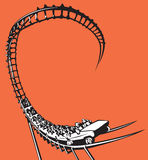 Roller coaster Stock Illustration