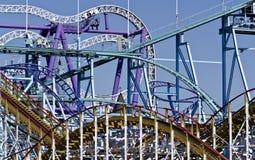 Roller coaster Immagini Stock Libere da Diritti