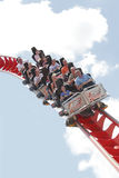 Roller coaster. Ride at family theme park / funfair Drayton Manor Park, England Royalty Free Stock Images
