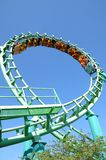 Roller Coaster 20. Large roller coaster on bright clear day Stock Image