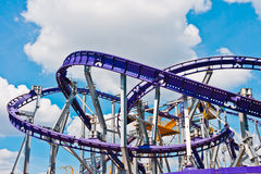 Roller coaster. In Moscow, Russia, East Europe royalty free stock photos