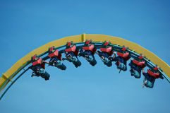 Roller Coaster. Rollercoaster ride at a theme park Stock Photo