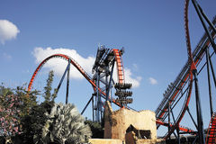 Roller coaster. In the busch gardens in tampa (Florida Royalty Free Stock Photography