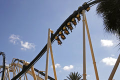 Roller coaster. In the busch gardens in tampa (Florida Royalty Free Stock Photos