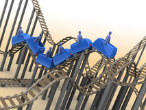 roller coaster 3d Immagine Stock