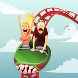 Roller-coaster Royalty Free Stock Images