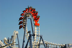 Roller coaster. Loop Stock Photography
