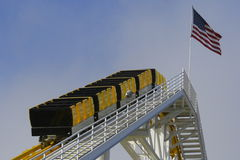Roller Coaster. Ride located at the Santa Monica pier amusement park in Southern California Royalty Free Stock Photo