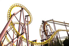 Roller Coaster. In amusement park Stock Photo