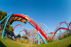 The roller coaster Stock Photography