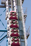 Roller coaster. In an amusement park Royalty Free Stock Photo
