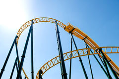 Roller Coaster against the sky. Royalty Free Stock Photo