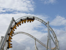 Roller coaster in the amusemen Royalty Free Stock Photo
