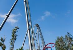 Roller Coaster in Amusement Entartainment Theme Park Stock Image