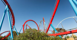 Roller Coaster in Amusement Entartainment Theme Park Royalty Free Stock Photography