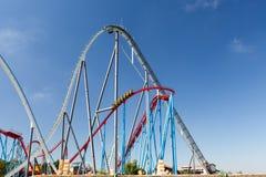 Roller Coaster in Amusement Entartainment Theme Park Royalty Free Stock Photos