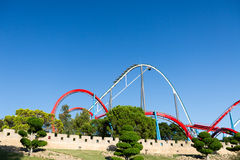 Roller Coaster in Amusement Entartainment Theme Park Stock Photography