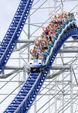Roller coaster in amusement park Stock Photography