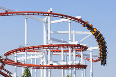 Roller coaster. Roller coaster in amusement park Royalty Free Stock Images