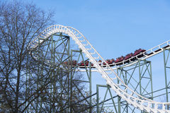 Roller coaster on amusement park in holland Royalty Free Stock Photos