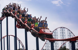 Roller Coaster Amusement Park Royalty Free Stock Images
