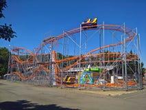 Roller coaster at amusement park Royalty Free Stock Photo