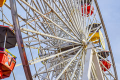 The roller coaster at the amusement park on the Santa Monica Pier in Santa Monica, California Stock Photos