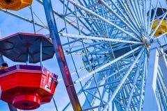 The roller coaster at the amusement park on the Santa Monica Pier in Santa Monica, California Stock Photo