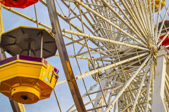 The roller coaster at the amusement park on the Santa Monica Pier in Santa Monica, California Royalty Free Stock Images