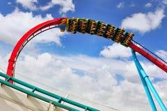 Roller Coaster . Amusement park in Spain near Salou- Port Aventura, near Salou,  Spain Royalty Free Stock Photo