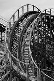 Roller Coaster B&W stock photo