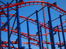 Roller Coaster Background Royalty Free Stock Photography