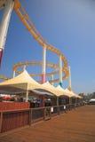 Roller Coaster and Boardwalk Stock Photos