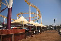 Roller Coaster and Boardwalk Stock Photography