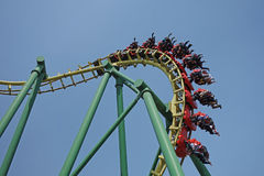 Roller coaster. In chengdu happy valley,China stock photography