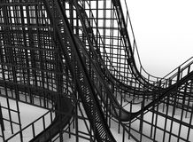 Roller coaster close-up Stock Images
