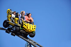 Roller Coaster closeup Stock Photography