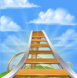 Roller Coaster Concept Royalty Free Stock Image