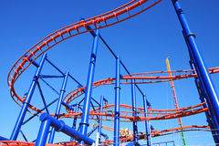 Roller-coaster in Coney Island. Astroland Amusement Park in Coney Island, New York City, Usa Stock Photos