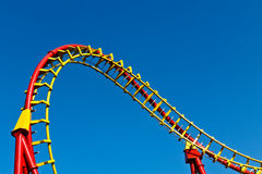 Roller coaster curve Stock Photography