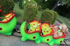 Roller coaster da larva da criança Imagens de Stock Royalty Free