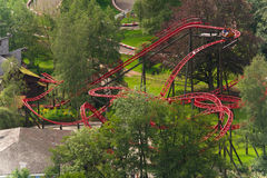 Roller coaster de giro imagen de archivo libre de regalías