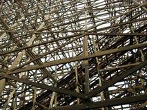 Roller coaster de madeira Imagem de Stock Royalty Free