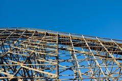Roller coaster de madera imágenes de archivo libres de regalías
