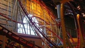 Roller coaster dell'interno Fotografie Stock Libere da Diritti